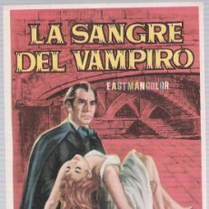 Cine: LA SANGRE DEL VAMPIRO. SENCILLO DE MAHIER.. Lote 17771518