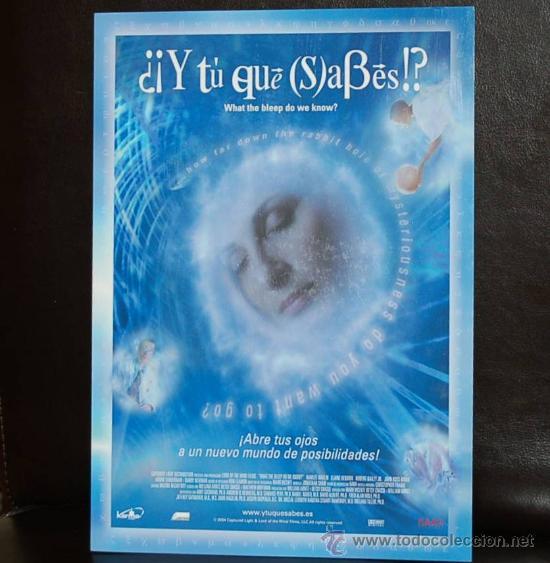 WHAT THE BLEEP DO WE KNOW - Y TU QUE SABES - KARMA FILMS - TRIPTICO DE LUJO - FISICA CUANTICA RAMTHA (Cine - Folletos de Mano - Documentales)