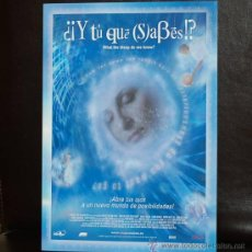Cine: WHAT THE BLEEP DO WE KNOW - Y TU QUE SABES - KARMA FILMS - TRIPTICO DE LUJO - FISICA CUANTICA RAMTHA. Lote 26593528
