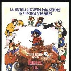 Cine: P-6442- FIEVEL Y EL NUEVO MUNDO (AN AMERICAN TAIL). Lote 17845829