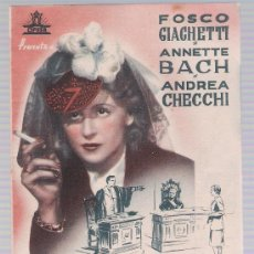 Cine: EXTRAÑO SILENCIO. DOBLE DE CIFESA. CINE ECHEGARAY 1944.. Lote 17900789