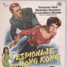 Cine: ESPIONAJE EN HONG KONG. SENCILLO DE CIFESA. IMPERIAL CINEMA - CALLOSA DE SEGURA 1965.. Lote 17911247
