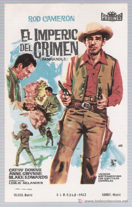 EL IMPERIO DEL CRIMEN. SENCILLO DE PROCINES. (Cine - Folletos de Mano - Westerns)