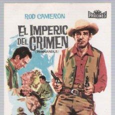 Cine: EL IMPERIO DEL CRIMEN. SENCILLO DE PROCINES.. Lote 17920878