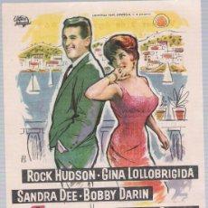 Cine: CUANDO LLEGUE SEPTIEMBRE.SENCILLO DE UNIVERSAL INTERNATIONAL.CINE ALCAZABA - MÉRIDA 1963.. Lote 17933898
