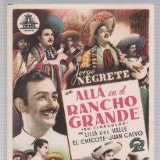 Cine: ALLÁ EN EL RANCHO GRANDE. SENCILLO DE CIFESA.. Lote 17934427