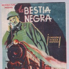 Cine: LA BESTIA NEGRA. DOBLE DE REY SORIA. TEATRO PRINCIPAL - ARANDA.. Lote 17934874
