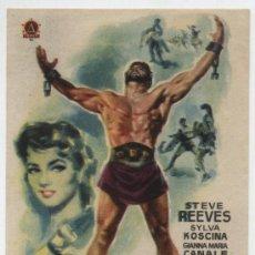 Foglietti di film di film antichi di cinema: HÉRCULES. SENCILLO DE DELTA FILMS.. Lote 18000051