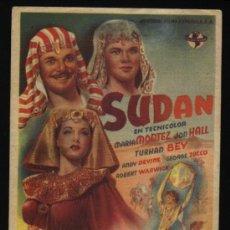 Cine: P-9349- SUDAN (MARIA MONTEZ - JON HALL - TURHAN BEY - ANDY DEVINE). Lote 17943156