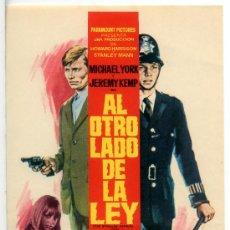 Cine: AL OTRO LADO DE LA LEY (FOLLETO DE MANO ORIGINAL) MICHAEL YORK - SUSAN GEORGE. Lote 67381359