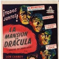 Cine: LA MANSIÓN DE DRÁCULA - CON LON CHANEY . Lote 115351054