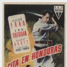 Cine: CITA EN HONDURAS. SENCILLO DE RKO RADIO. TEATRO IRIS 1956.. Lote 18013586