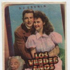 Cine: LOS VERDES AÑOS. SENCILLO DE MGM. CINE RIALTO - SEVILLA.. Lote 18015004