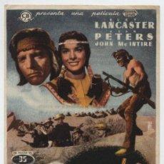 Cine: APACHE. SENCILLO DE CB FILMS. CINEMA GOYA - ZAGOZA 1954.. Lote 18018680