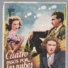 Cine: CUATRO PASOS POR LAS NUBES. SENCILLO DE CIFESA. ESTRENO EN VÉLEZ MÁLAGA SIN NOMBRE DE CINE.. Lote 18043470