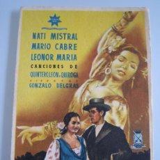 Flyers Publicitaires de films Anciens: FOLLETO DE MANO - ORO Y MARFIL - NATI MISTRAL MARIO CABRE QUINTERO LEON QUIROGA - ESTRELLA AZUL. Lote 18296663