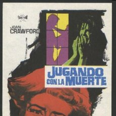 Cine: P-0304- JUGANDO CON LA MUERTE (I SAW WHAT YOU DID AND I KNOW WHO YOU ARE) JOAN CRAWFORD. Lote 204691532