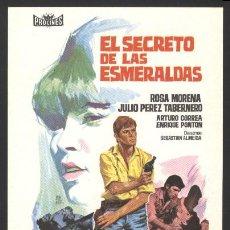 Cine: P-6485- EL SECRETO DE LAS ESMERALDAS (UNA HERENCIA EN CARTAGENA) (ROSA MORENA - CARLOS MUÑOZ). Lote 140289061