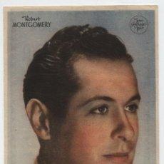 Cine: ROBERT MONTGOMERY. SENCILLO DE MGM. PUBLICIDAD DE DENTICHLOR.. Lote 18417704