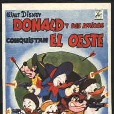 Cine: P-2175- DONALD Y SUS AMIGOS CONQUISTAN EL OESTE (DONALD DUCK GOES WEST) WALT DISNEY. Lote 137758636
