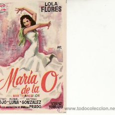 Cine: MARIA DE LA O. LOLA FLORES. CINE Y MAS COLECCIONISMO EN RASTRILLOPORTOBELLO. Lote 27060181