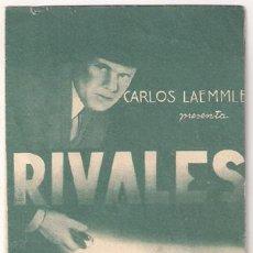 Cine: RIVALES PROGRAMA DOBLE UNIVERSAL CHARLES BICKFORD HELEN VINSON. Lote 18591653