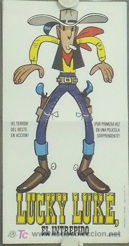 LUCKY LUKE EL INTREPIDO PROGRAMA SENCILLO CB GRANDE COMIC ANIMACION (Cine - Folletos de Mano - Infantil)