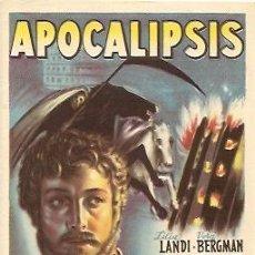 Cine: PROGRAMA DE MANO DEL FILM APOCALIPSIS CON LILIA LANDI. Lote 18615037