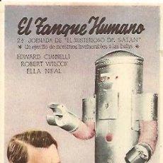 Cine: PROGRAMA DE MANO DEL FILM EL TANQUE HUMANO CON EDWARD CIANNELLI. Lote 18617507