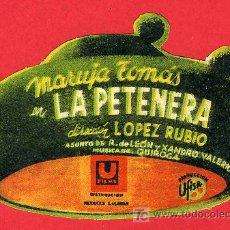 Cine: LA PETENERA , TROQUELADO , RARO , S1766. Lote 25606668
