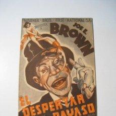 Cine: EL DESPERTAR DEL PAYASO - PROGRAMA CINE DOBLE. Lote 18892804