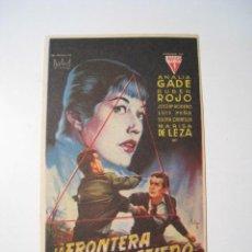 Cine: LA FRONTERA DEL MIEDO - PROGRAMA CINE SIMPLE. Lote 52852390