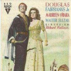 Cine: SIMBAD EL MARINO DOUGLAS FAIRBANKS MAUREEN O'HARA RICHARD WALLACE CP. Lote 19138144