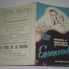 Cine: ENAMORADOS PROGRAMA DE CINE ANTIGUO AÑOS 30 CON RENATA MULLER Y GUSTAV FROHLICH. Lote 19139969