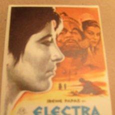 Cine: ELECTRA ORIGINAL. Lote 26316334