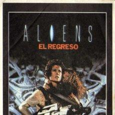 Cine: ALIENS EL REGRESO - ESCRITO DORSO CINES DE BCN - BODRIO FILM. Lote 121786182