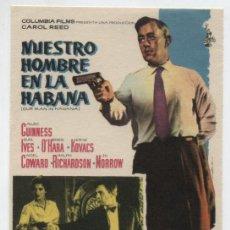 Cine: NUESTRO HOMBRE EN LA HABANA. SENCILLO DE COLOMBIA.. Lote 19319722