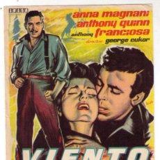 Cine: PROGRAMA DE CINE - VIENTO SALVAJE - ANTHONY QUINN - AÑO 1.957 - SIN PUBLICIDAD. Lote 19363757