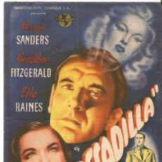 Cine: PESADILLA - GEORGE SANDERS, GERALDINE FITZGERALD, ELLA RAINES - UNIVERSAL FILMS. Lote 26773901
