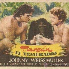 Cine: TARZAN EL TEMERARIO CP. Lote 19401990
