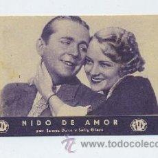 Cine: PROGRAMA DE CINE-TARJETA: NIDO DE AMOR (PC-691). Lote 19418109