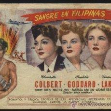 Cine: P-9133- SANGRE EN FILIPINAS (SO PROUDLY WE HAIL) (CINE AVENIDA) CLAUDETTE COLBERT - PAULETTE GODDARD. Lote 19424745