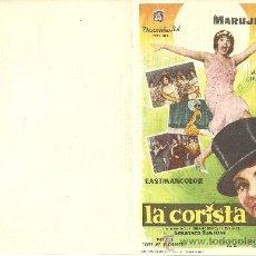 Cine: LA CORISTA SP DOBLE MARUJITA DIAZ. Lote 19517163