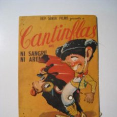 Cine: NI SANGRE NI ARENA - CANTINFLAS - PROGRAMA CINE MOVIL. Lote 19541927