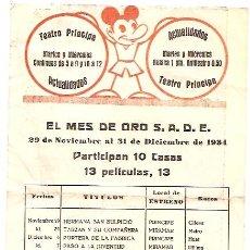 Cine: PROGRAMA DE CINE AÑO 1934. Lote 27588312
