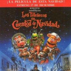 Cine: 582- FOLLETO DE MANO: LOS TELEÑECOS EN CUENTOS DE NAVIDAD. Lote 19559671