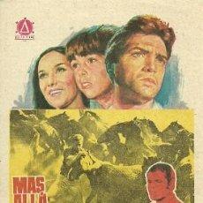 Cinema: PROGRAMA DE MANO DEL FILM MAS ALLA DE RIO MIÑO CON GUSTAVO ROJO. Lote 19602582