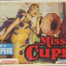 Foglietti di film di film antichi di cinema: MISS CUPLÉ. Lote 19604091
