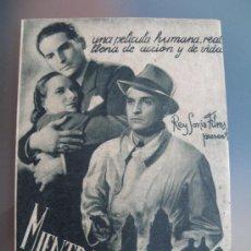 Cine: MIENTRAS MEXICO DUERME ,ARTURO DE CORDOBA, DOBLE GRANDE,17X24, C/P. CINEMA COMICO JARDIN 1941. Lote 26073786
