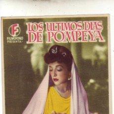 Cine: LOS ULTIMOS DIAS DE POMPEYA. Lote 25699997